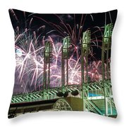 Fireworks At The Jake Throw Pillow