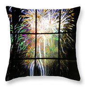 Fireworks By Dali Throw Pillow