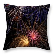 Fireworks Celebration  Throw Pillow