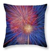 Fireworks Celebration Glow Square Throw Pillow