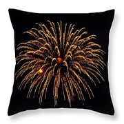 Fireworks - Gold Dust Throw Pillow