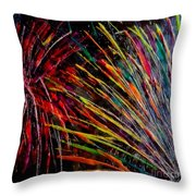Fireworks In Bled Throw Pillow