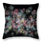 fireworks in Japan Throw Pillow
