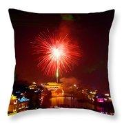 Fireworks In Phoenix Throw Pillow