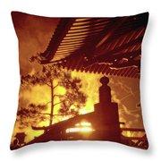 Fireworks, Japan Pavilion, Epcot, Walt Disney World Throw Pillow
