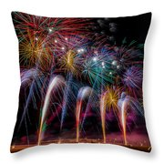 Fireworks Line Throw Pillow