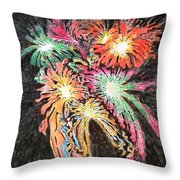 Fireworks Man Throw Pillow