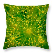 Fireworks Of Dill Flowers Throw Pillow