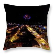 Fireworks Over Hudson Throw Pillow