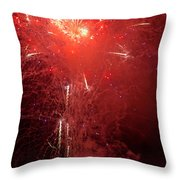 Fireworks Over Humboldt Bay Throw Pillow
