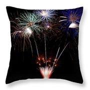 Fireworks Over Lake #14 Throw Pillow