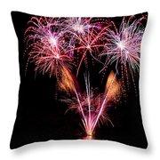 Fireworks Over Lake #15 Throw Pillow