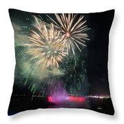Fireworks Over Niagara Falls #1 Throw Pillow
