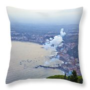 Fireworks Over Sicily Throw Pillow