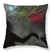 Fireworks Proposal Throw Pillow
