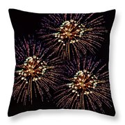 Fireworks - Purple Power Throw Pillow