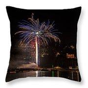 Fireworks Shaldon 2015 Throw Pillow