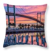 Firey Sunrise Vertical Waterfront Throw Pillow
