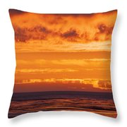 Firey Sunset Sky Throw Pillow
