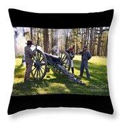 Firing The Cannon Throw Pillow