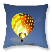 Firing Up The Red White And Blue Throw Pillow