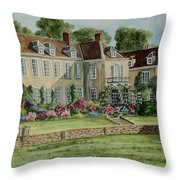 Firle Place England Throw Pillow