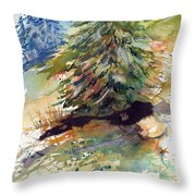 Firs On The Hill Throw Pillow