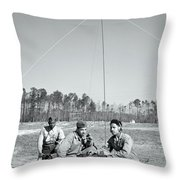 First African American United States Marines 1942 Throw Pillow