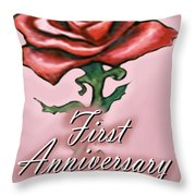 First Anniversary Throw Pillow