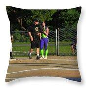 First Base Coach Throw Pillow