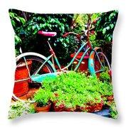 First Bike Throw Pillow