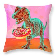 First Bite Throw Pillow