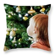 First Christmas Throw Pillow