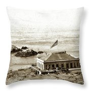 First Cliff House  View Of Ropes From The Cliff House To Seal Rock Circa 1865 Throw Pillow