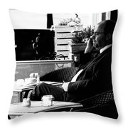 First Coffee Throw Pillow
