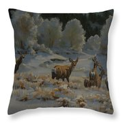 First Cold Snap Throw Pillow