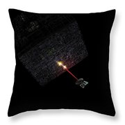 First Contact Throw Pillow