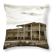 First Custom House In California, Monterey 1898 Throw Pillow by California Views Archives Mr Pat Hathaway Archives