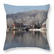 First Day Of Spring Bucks County Playhouse Throw Pillow