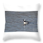 First Day Of Spring Bufflehead2 Throw Pillow