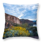 First Day Of Spring - Canyon Lake Throw Pillow