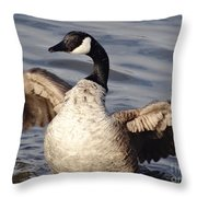 First Day Of Spring Goose Throw Pillow