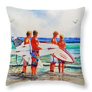 First Day Of Summer Throw Pillow