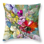 First Flowers Throw Pillow