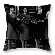First Four Computer Circuit Boards Throw Pillow