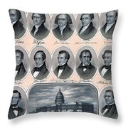 First Hundred Years Of American Presidents Throw Pillow