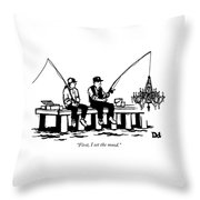 First I Set The Mood Throw Pillow
