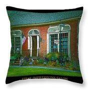 First Impressions Salon In Woodstock Vermont Throw Pillow