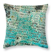 First Infantry Division Memorial Plaque Throw Pillow