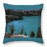 First Lake Throw Pillow